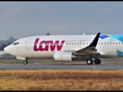 LAW Latin American Wings Boeing 737-36N [CC-AVL] | Takeoff From Santiago Airport SCL Rwy 17L