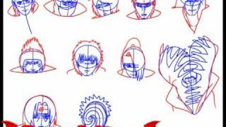 How to draw Akatsuki, step by step