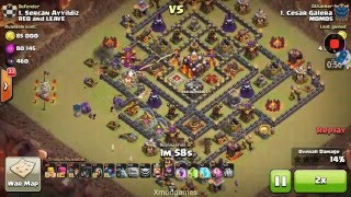 MAX OUT TROOPS ATTACK (MAX OUT BAR AREC WALL BALL WIZ PIK MINO GOLE )IN CLASH OF CLANS