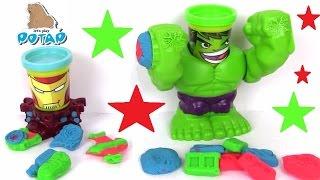 Пластилин Плей До на Русском Play Doh Hulk. Iron Man Халк и Железный Человек. Пластилин для Детей