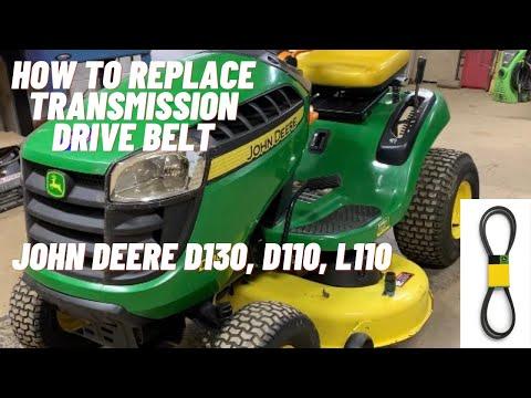 How To Install A Transmission Drive Belt John Deere D130