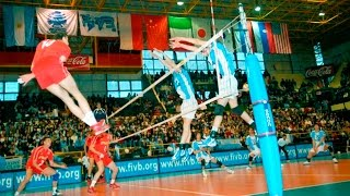 TOP 50 Best Volleyball Attacks Over The Line | Line Spike | Line Shot