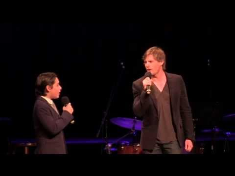 Joshua Colley and Hunter Parrish singing On Wings Of A Swan