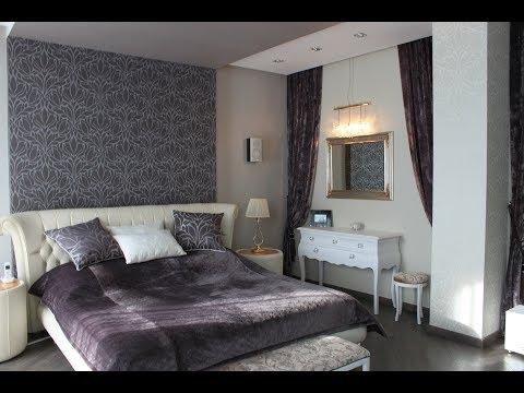 Реализованный дизайн-проект. Дизайн интерьера спальной комнаты. Контемпорари.