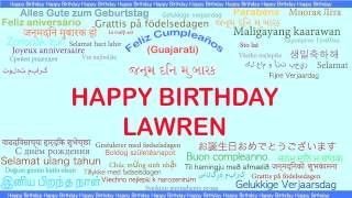 Lawren   Languages Idiomas - Happy Birthday