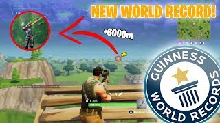 *NEW* FORTNITE WORLD RECORD 6172M LONGEST SNIPE! - Fortnite Daily Best Moments Ep.18