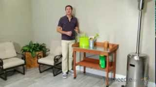 Cypress Wood Lotus Potting Bench - Product Review Video