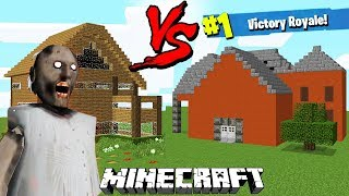 CASA GRANNY VS CASA FORTNITE - MINECRAFT