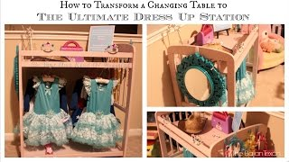 Changing Table To Dress Up Station: Children's Organization Collaboration