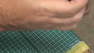 ツメの指穴加工