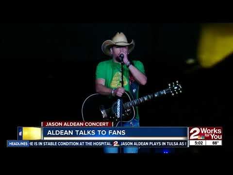 Jason Aldean performs in Tulsa after Las Vegas shooting