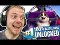 UNLOCKING ALL 100 TIER in SEASON 7!! - Fortnite Battle Royale!