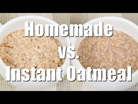 Making Homemade vs. Packaged Oatmeal