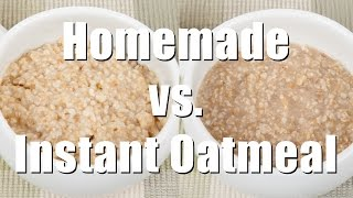 Making Homemade Vs. Packaged Oatmeal