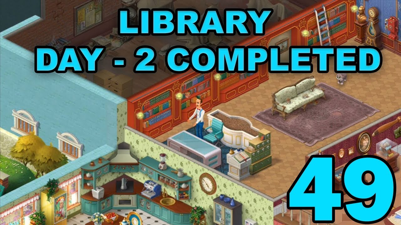 HOMESCAPES STORY WALKTHROUGH - LIBRARY - DAY 2 COMPLETED ...