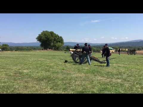 Antietam National Battlefield- 1857 Napoleon firing by piece