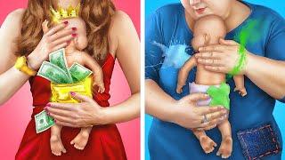 Rich Babysitter vs Broke Babysitter