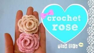 ✿✿ ✿ Цветы крючком для начинающих//Простая роза крючком//crochet flowers