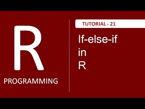 If-else-if ( if else ladder ) in R Programming : Tutorial #21