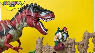 Animal Planet T-REX ADVENTURE Playset - Skyheart playing with jurassic world toys dinosaurs for kids