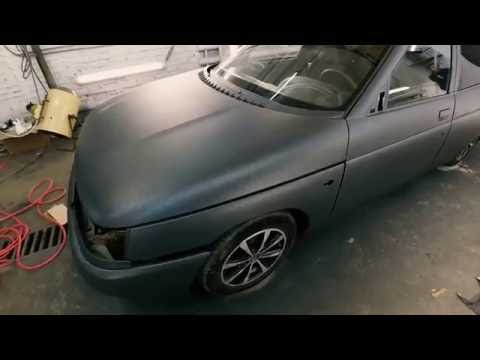 ВАЗ 2110 в полиуретановое прочное покрытие ТИТАН Rubber paint