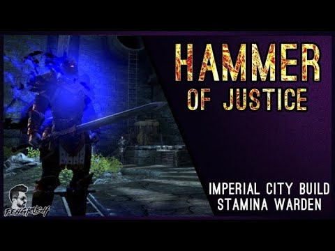 Hammer of Justice, Stamina Warden PvP Build by Fengrush - AlcastHQ