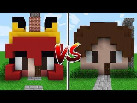 Minecraft: CASA CHERRY VS CASA JAZZGHOST!!!