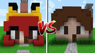 Minecraft CASA CHERRY VS CASA JAZZGHOST!!!