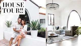 OUR NEW HOUSE TOUR!! BEFORE + AFTER