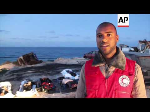 Dead migrants remain on Libya beach
