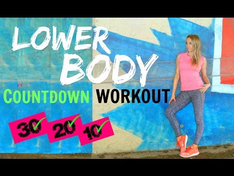 HOME WORKOUT - LOWER BODY TONE  - WORKOUT FOR WOMEN  - no equipment need