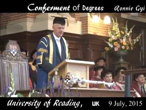 University of Reading Convocation  2015-07-09