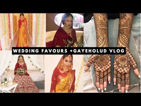 WEDDING FAVOURS + GAYEHOLUD VLOG   SABINA HANNAN