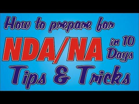 How to prepare for NDA/NA in 10 days- Tips & Tricks