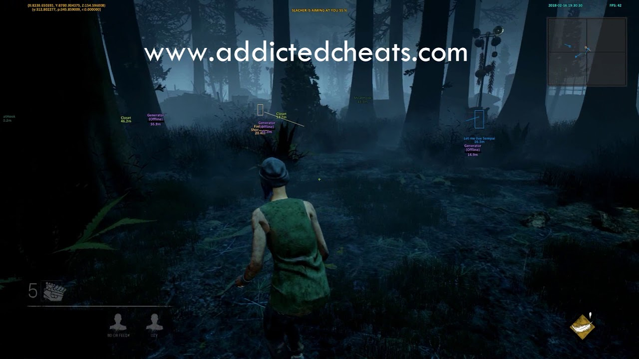 Dead By Daylight Cheat / Hack Wallhack | ESP 2018 AddictedCheats
