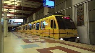 Buenos Aires地下鉄B線 Madrid Metro CAF6000 F1編成 ・E1編成 De los Incas - Parque Chas駅入線~発車