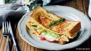 【ハムチーズのワンパントースト】話題の韓国グルメ!フライパン1つで作れる簡単レシピ♪