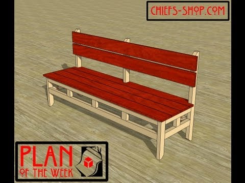 Chief's Shop Plan of the Week: Farmhouse Dining Bench