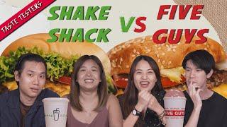 Five Guys VS Shake Shack   Taste Testers   EP 116
