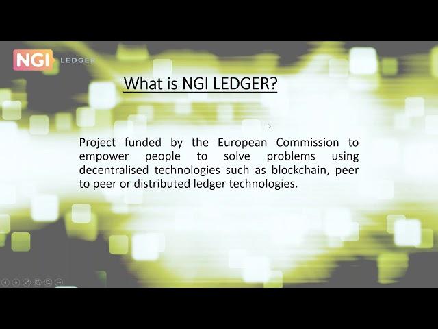 LEDGER 3rd Open Call - Webinar #2: Verticals and Technical Mentorship