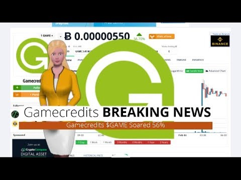 Cryptocurrency Gamecredits $GAME Has Risen 56% Over the Past Day 2