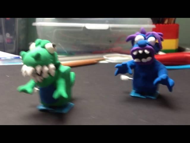 15x Plastic Handmade Wind-up Walker Clay DIY Toy Wind Up Clockwork Walker