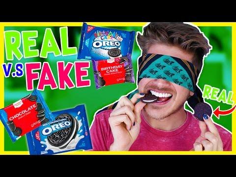 REAL vs. FAKE OREOS CHALLENGE!