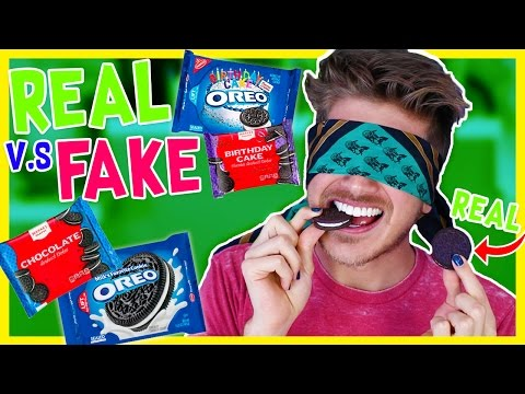 REAL vs. FAKE OREOS CHALLENGE!