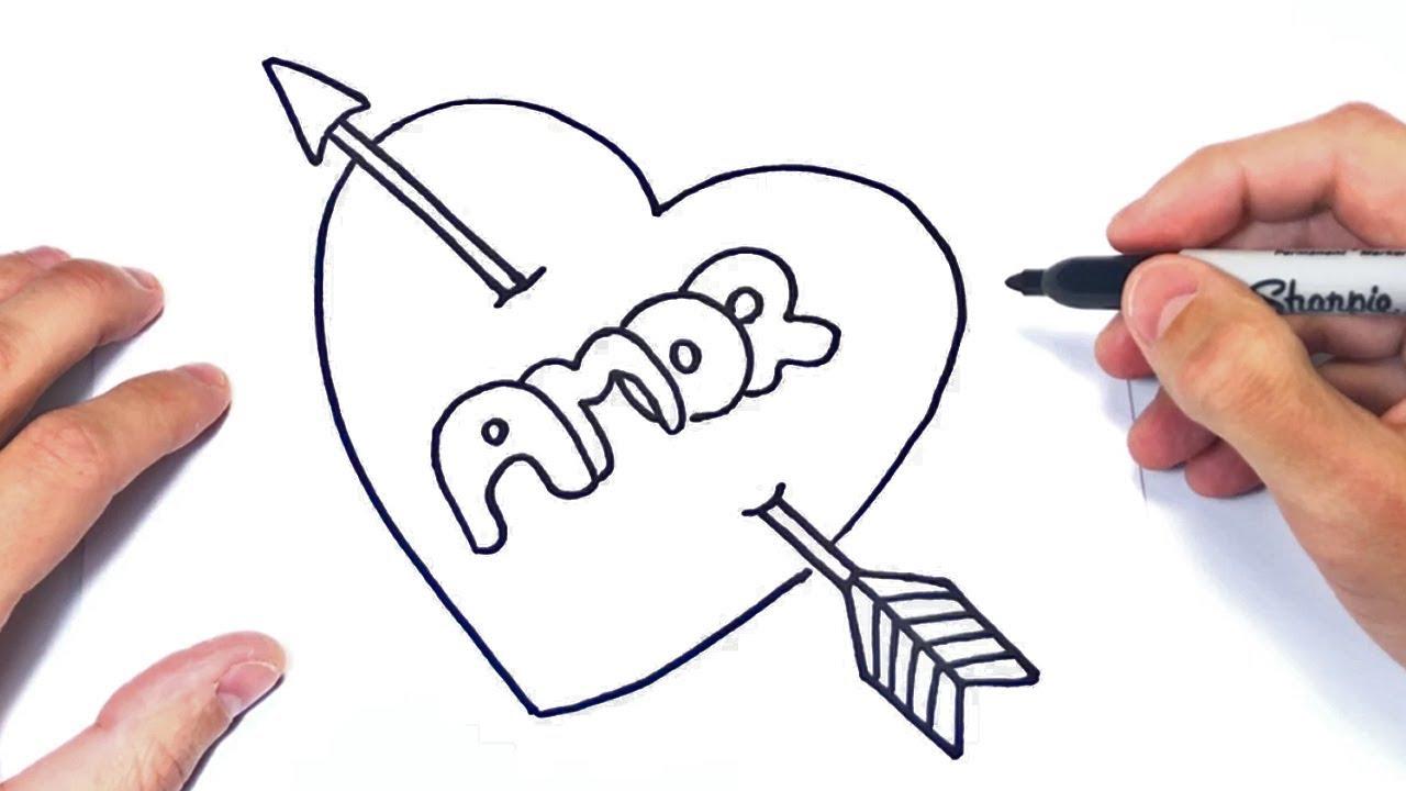 Como Dibujar La Palabra Amor Dibujos Romanticos