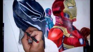 Speed Drawing: Team Ironman   -   Dibujo rápido: Equipo Ironman