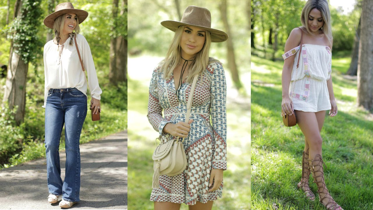 04f0b1e7908a SPRING BOHO INSPIRED LOOKBOOK! Alexandrea Garza - YouTube