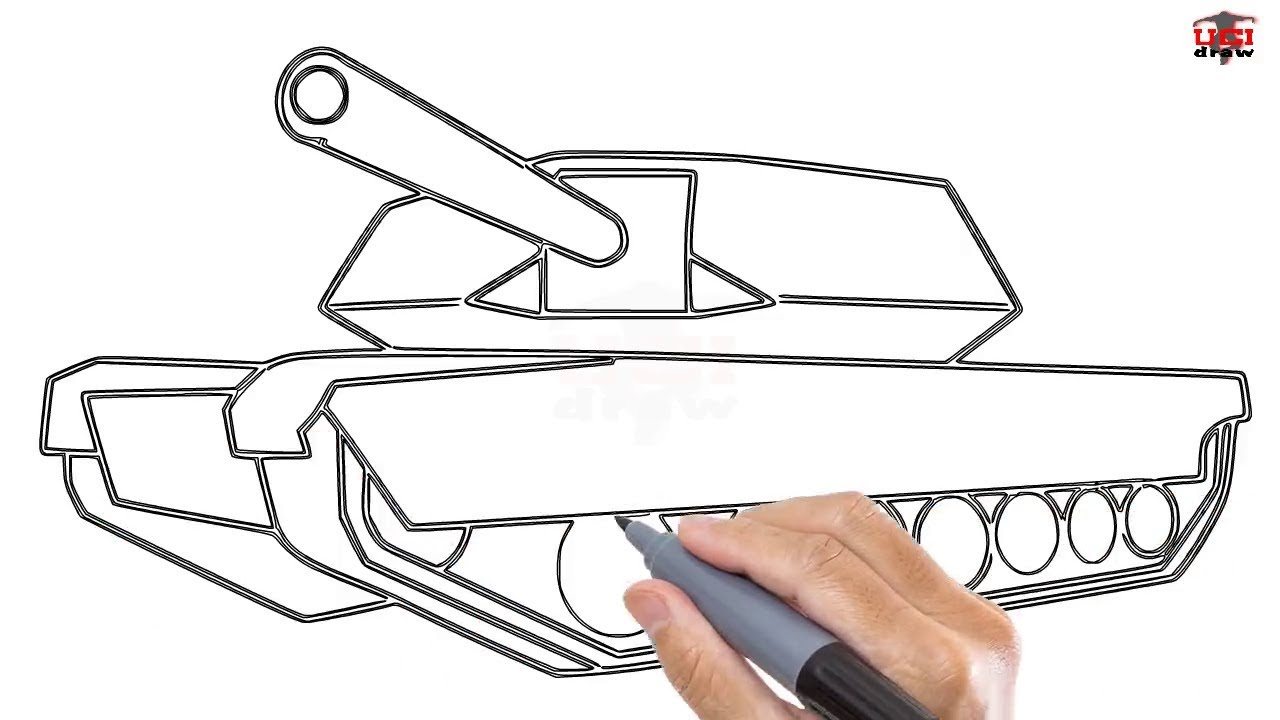 Draw a tank with children
