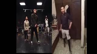Bruno Mars Finess dance rehearsal for Grammy's 2018