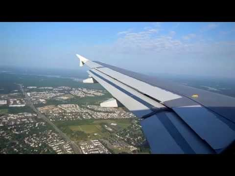 US Airways A319 Landing at Charlotte Douglas International Airport (CLT)